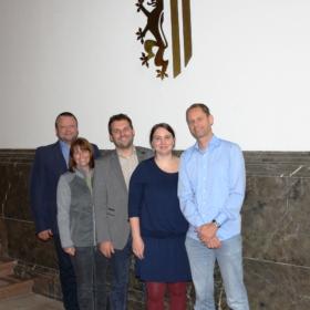 Der neue Vorstand der Leipziger SPD-Fraktion: Andreas Geisler, Ute Köhler-Siegel, Christopher Zenker, Katharina Schenk, Heiko Oßwald (v.l.n.r.)