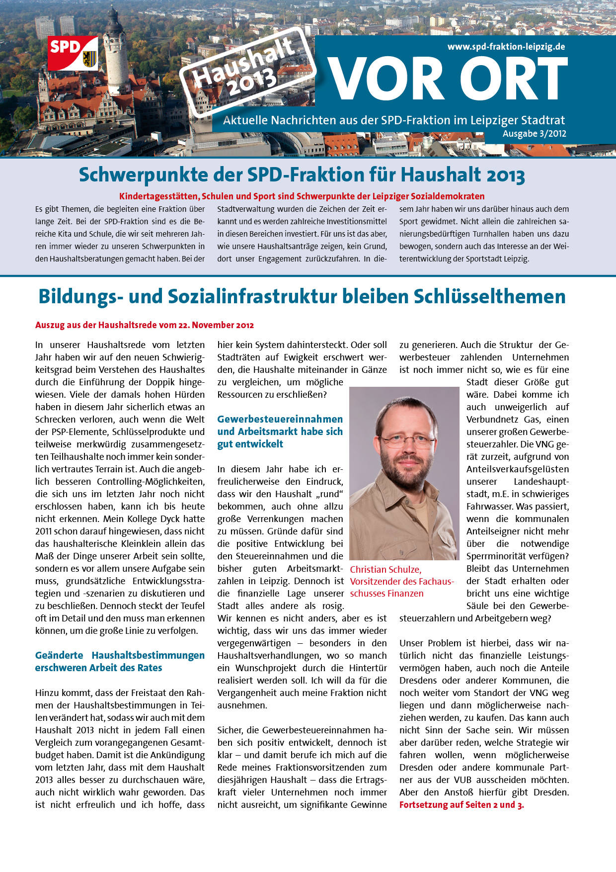 VOR ORT, Ausgabe 3/2012