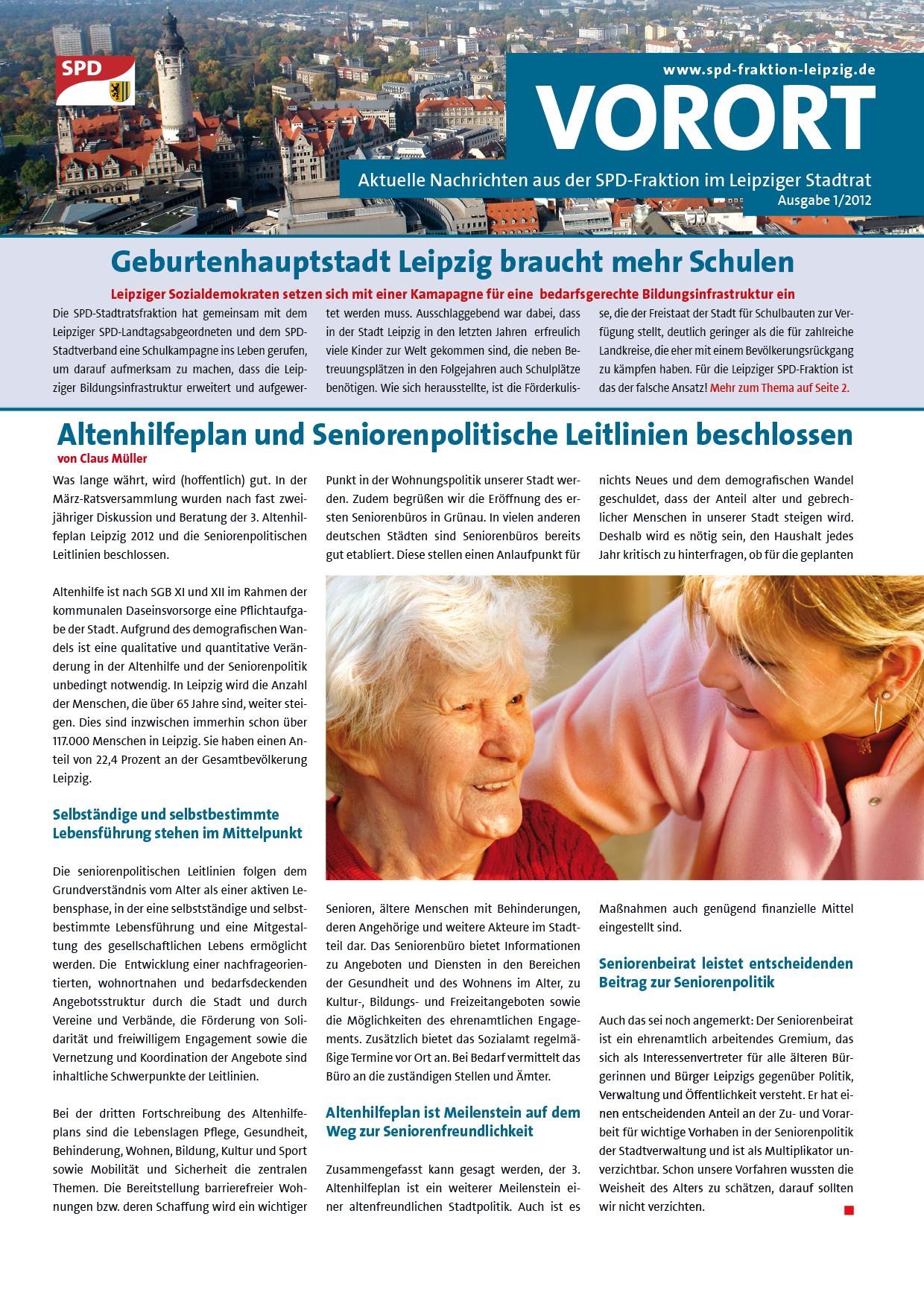 VOR ORT, Ausgabe 1/2012