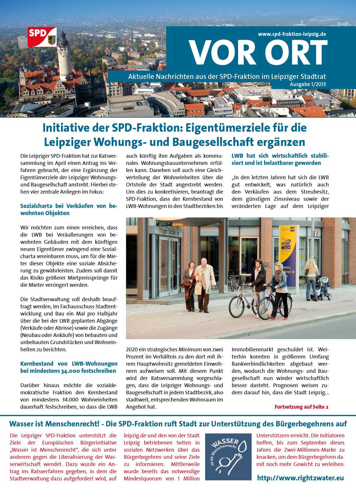 VOR ORT, Ausgabe 1/2013